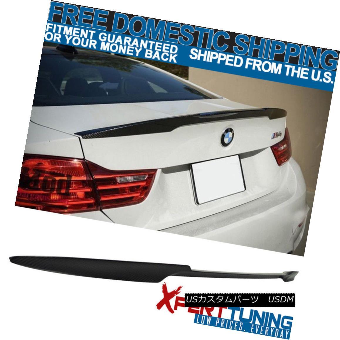 エアロパーツ Fit 14-18 BMW 3 Series F80 F30 V M4 Style Trunk Spoiler Wing - Carbon Fiber CF 適合14-18 BMW 3シリーズF80 F30 V M4スタイルトランク・スポイラー・ウィング - 炭素繊維CF
