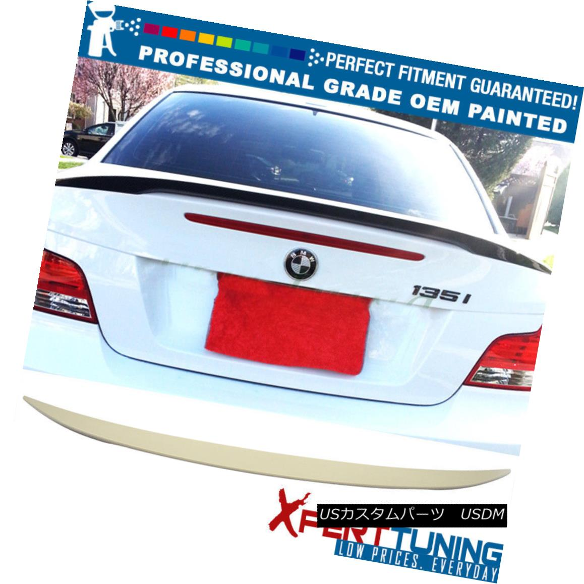 エアロパーツ 07-13 1-Series E82 2Dr Coupe Painted ABS Trunk Spoiler - OEM Painted Color 07-13 1シリーズE82 2Drクーペ塗装ABSトランク・スポイラー - OEM塗装色
