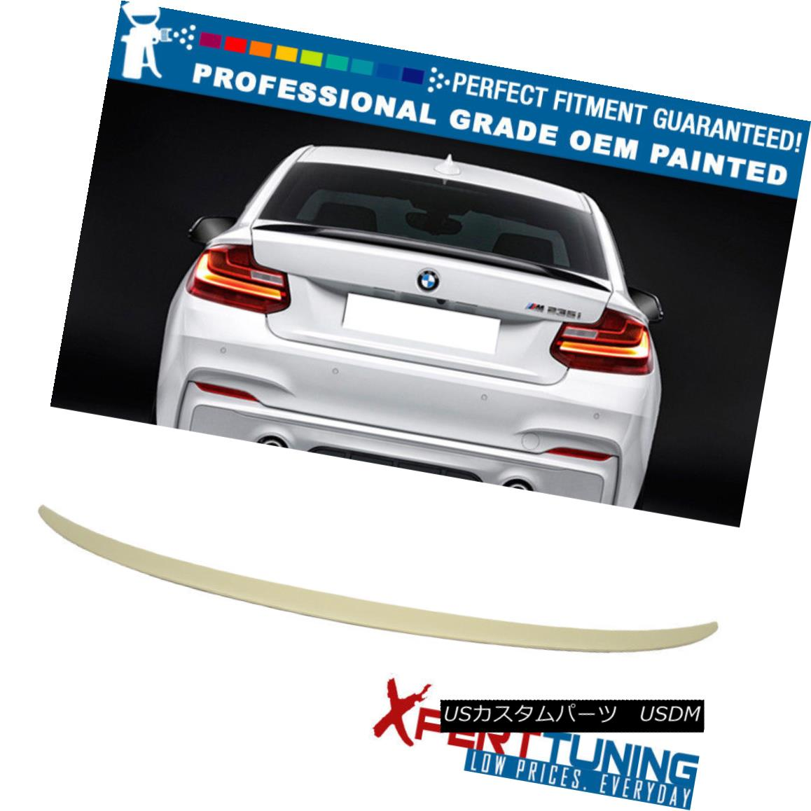 エアロパーツ 14-18 BMW 2-Series F22 Performance Painted Trunk Spoiler - OEM Painted Color 14-18 BMW 2シリーズF22性能塗装トランク・スポイラー - OEM塗装色