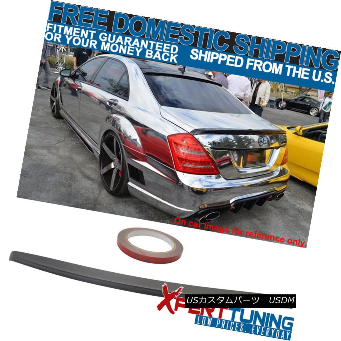 エアロパーツ 07 08 09 10 11 12 13 Benz W221 S-Class Trunk Spoiler Painted Matte Black 07 08 09 10 11 12 13ベンツW221 Sクラストランクスポイラー塗装マットブラック