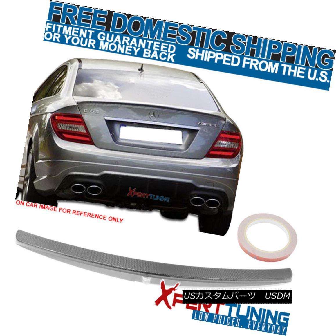 エアロパーツ 12 13 14 15 Benz C Class C204 2Dr AMG Style CF Carbon Fiber Trunk Spoiler 12 13 14 15ベンツCクラスC204 2Dr AMGスタイルCF炭素繊維トランク・スポイラー