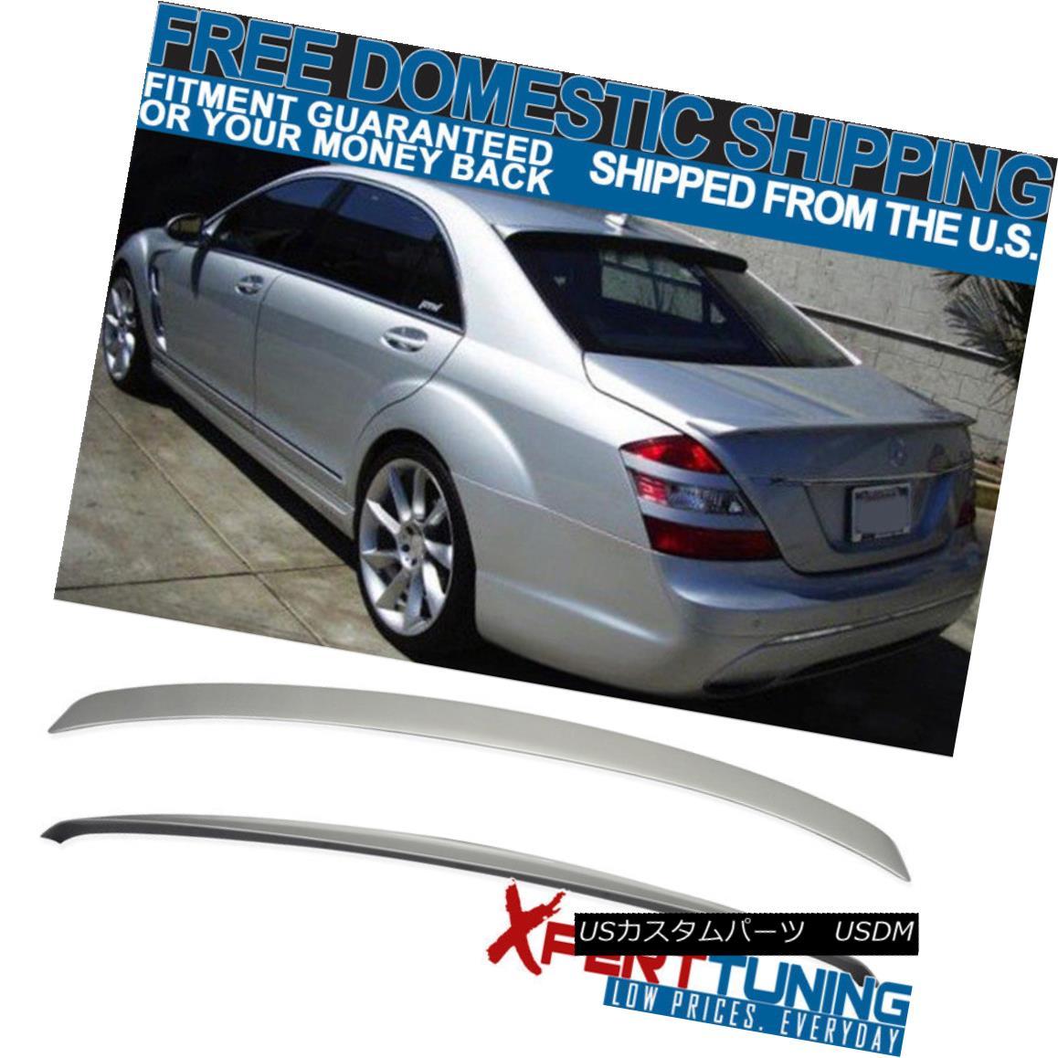 エアロパーツ W221 4Dr AMG Trunk + L Type Roof Spoiler Painted # 775 Iridium Silver Metallic W221 4Dr AMGトランク+ Lタイプルーフスポイラー#775イリジウムシルバーメタリック塗装