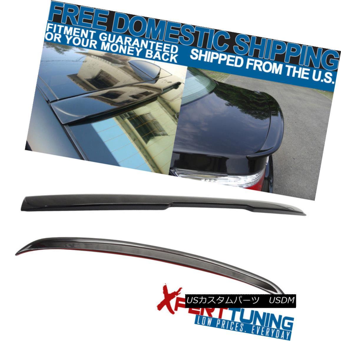 エアロパーツ 04-10 E60 5 Series AC Trunk Spoiler + Roof Spoiler Painted # 475 Black Sapphire 04-10 E60 5シリーズACトランク・スポイラー+ルーフ・スポイラー#475ブラック・サファイア