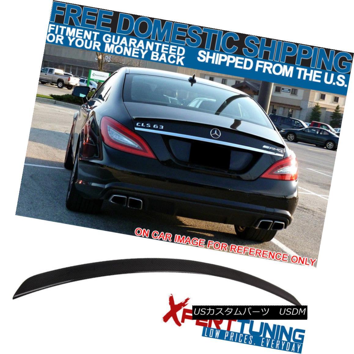 エアロパーツ FIT For 11-17 Benz CLS Class W218 AMG Style Trunk Spoiler - Carbon Fiber (CF) 11-17ベンツCLSクラスW218 AMGスタイルトランクスポイラーのためのフィット - 炭素繊維(CF)