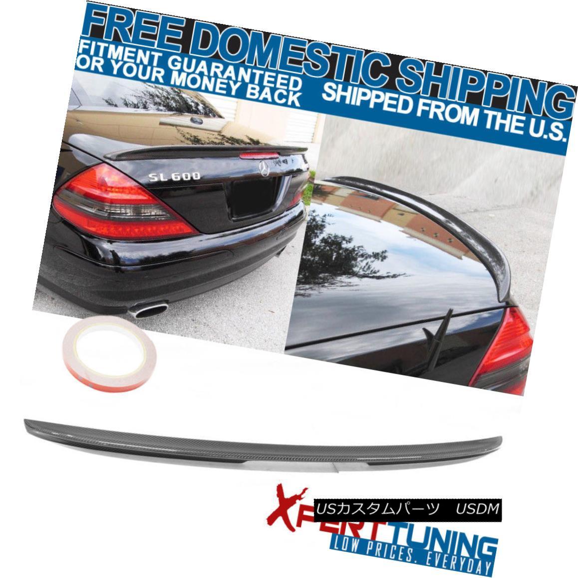 エアロパーツ FIT For 03-11 Benz SL Class R230 AMG Style Carbon Fiber Cf Trunk Spoiler FIT 03-11ベンツSLクラスR230 AMGスタイル炭素繊維Cfトランク・スポイラー
