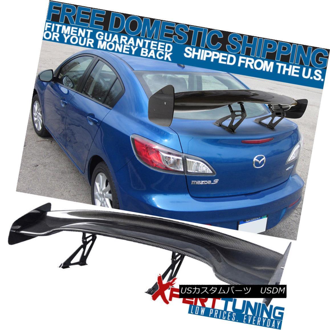 エアロパーツ Fits Mazda 3 6 57 Inch GT Super Downforce Trunk Spoiler Wing フィットマツダ3 6 57インチGTスーパーダウンフォーストライクスポイラーウィング