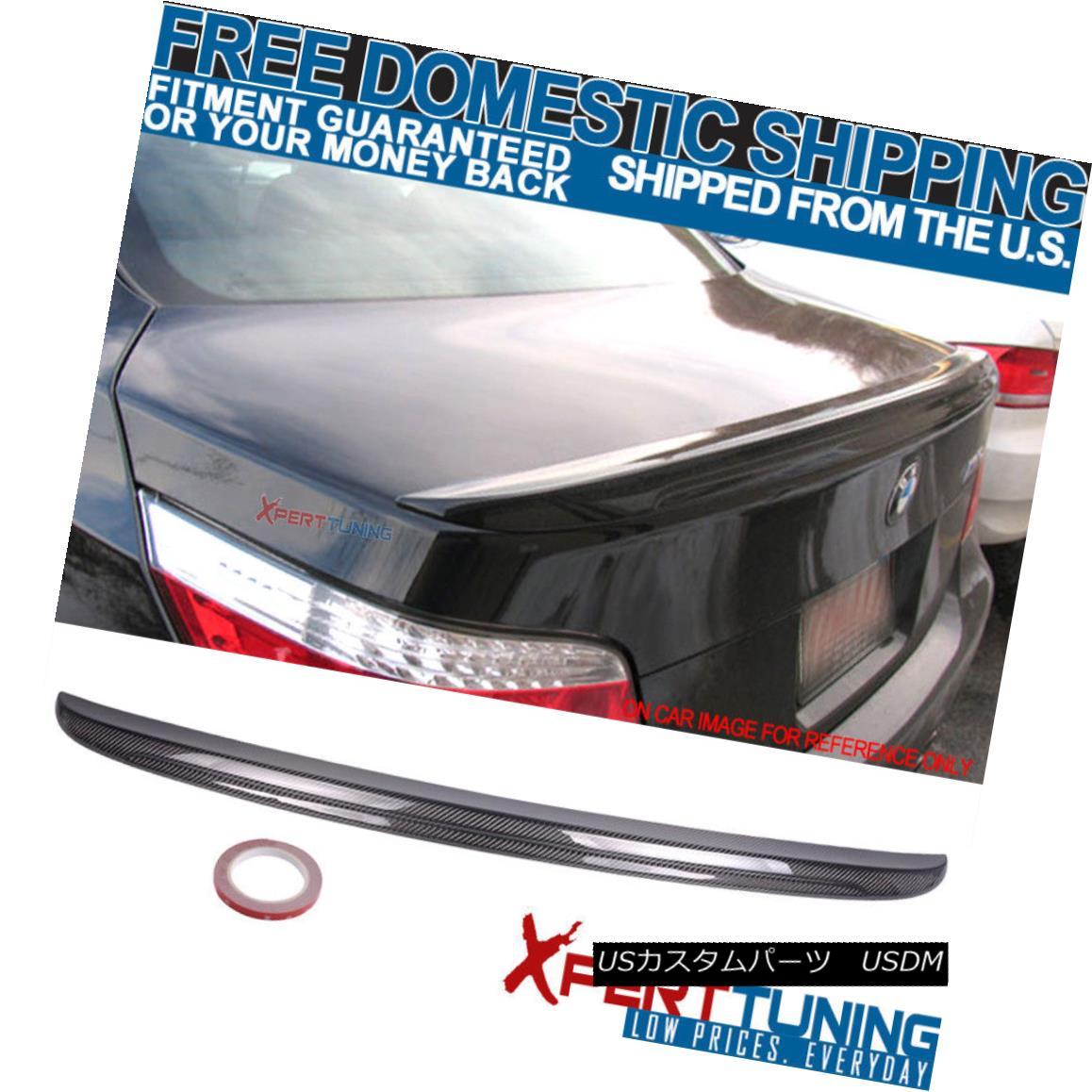 エアロパーツ 04-10 BMW 5 Series E60 4Dr M5 Style Carbon Fiber Trunk Spoiler Wing (CF) 04-10 BMW 5シリーズE60 4Dr M5スタイル炭素繊維トランク・スポイラー・ウィング(CF)