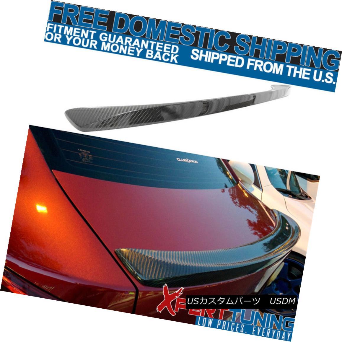 エアロパーツ Fit For 06-13 Lexus IS250 IS350 ISF Sport Style Carbon Fiber CF Trunk Spoiler フィット06-13レクサスIS250 IS350 ISFスポーツスタイルカーボンファイバーCFトランクスポイラー