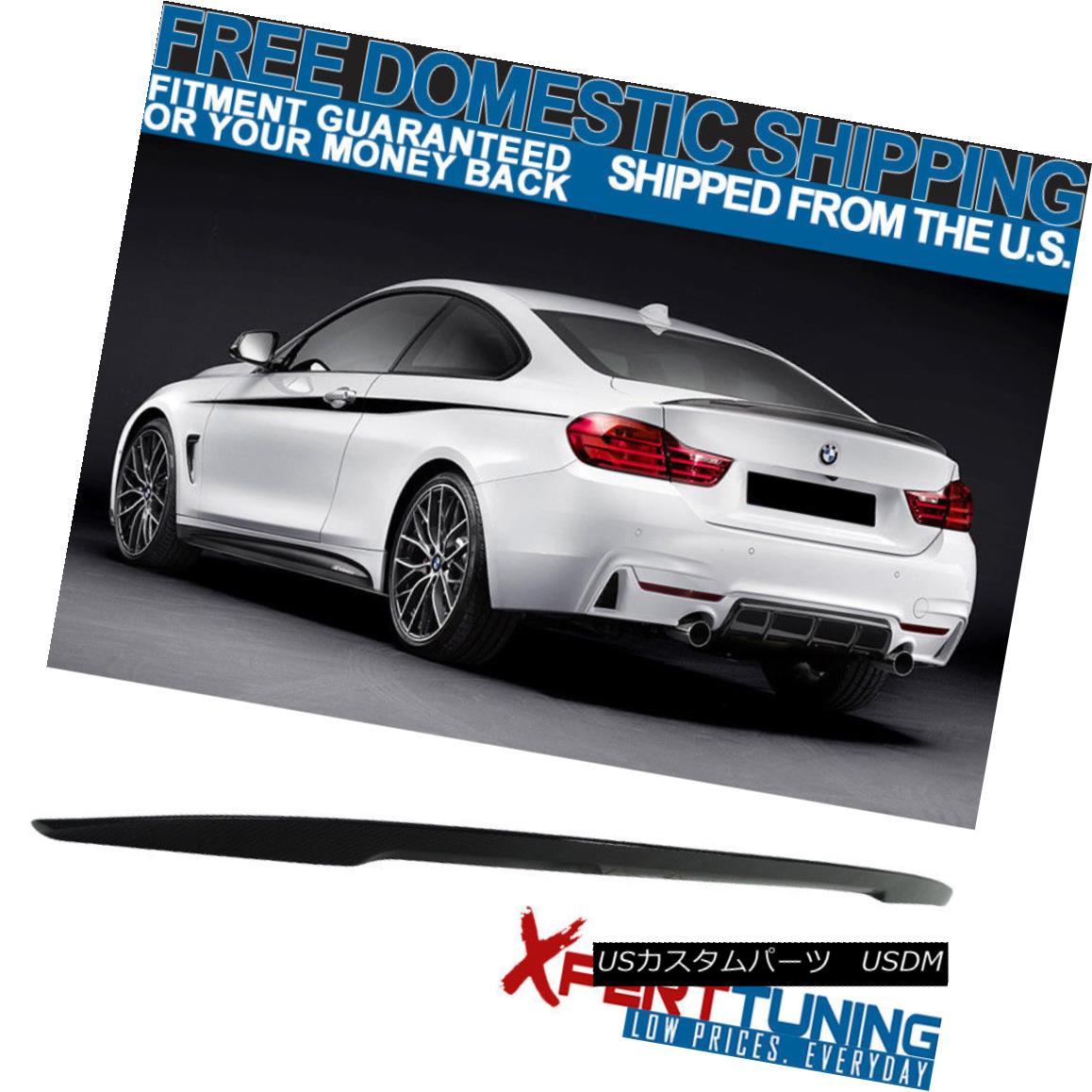 エアロパーツ 14-17 BMW F33 4 Series Performance Carbon Fiber CF Trunk Spoiler Wing ABS 14-17 BMW F33 4シリーズ性能炭素繊維CFトランク・スポイラーウィングABS