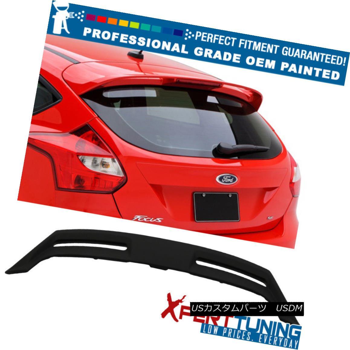 エアロパーツ Fits 12-18 Ford Focus ST OE Factory Style Roof Spoiler - OEM Painted Color フィット12-18フォードフォーカスST OE工場の屋根のスポイラー - OEM塗装色