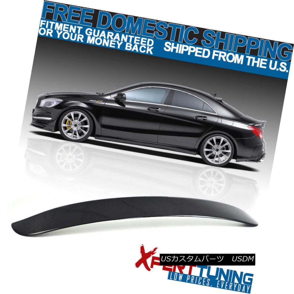 エアロパーツ 2013-2018 Benz W117 4Dr 4Door OE Style ABS Carbon Fiber Rear Roof Spoiler 2013-2018ベンツW117 4Dr 4Door OEスタイルABSカーボンファイバーリアルーフスポイラー
