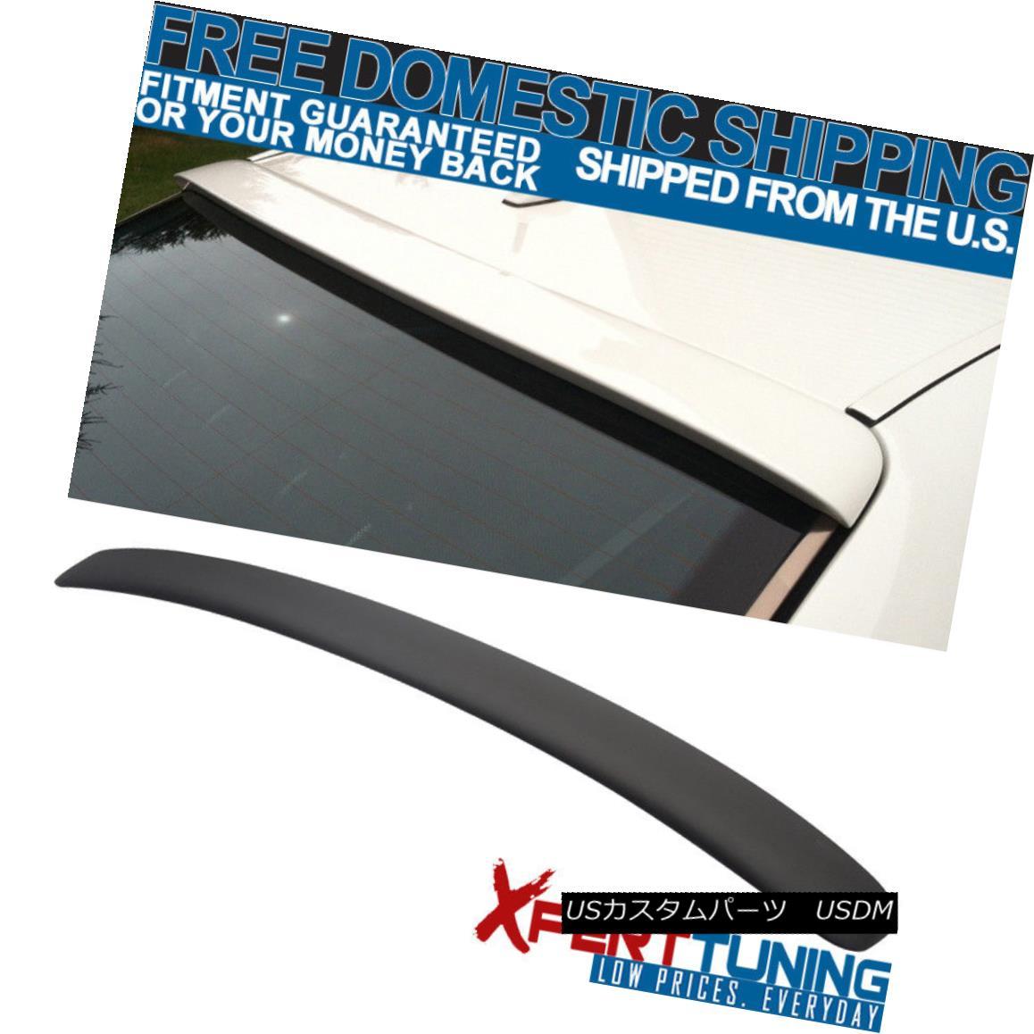 エアロパーツ Open Box Fits 95-01 Benz E-Class W210 4Dr Sedan L Style Matte Black Roof Spoiler オープンボックスフィット95-01ベンツEクラスW210 4DrセダンLスタイルマットブラックルーフスポイラー