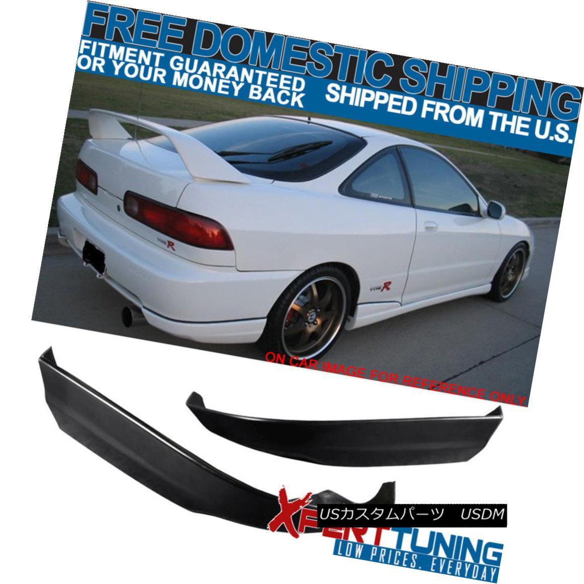 エアロパーツ Fit 98-01 Acura Integra Rear Bumper Lip PU Valance Spats Bodykit フィット98-01アキュラインテグラリアバンパーリップPUバランススパッツボディキット