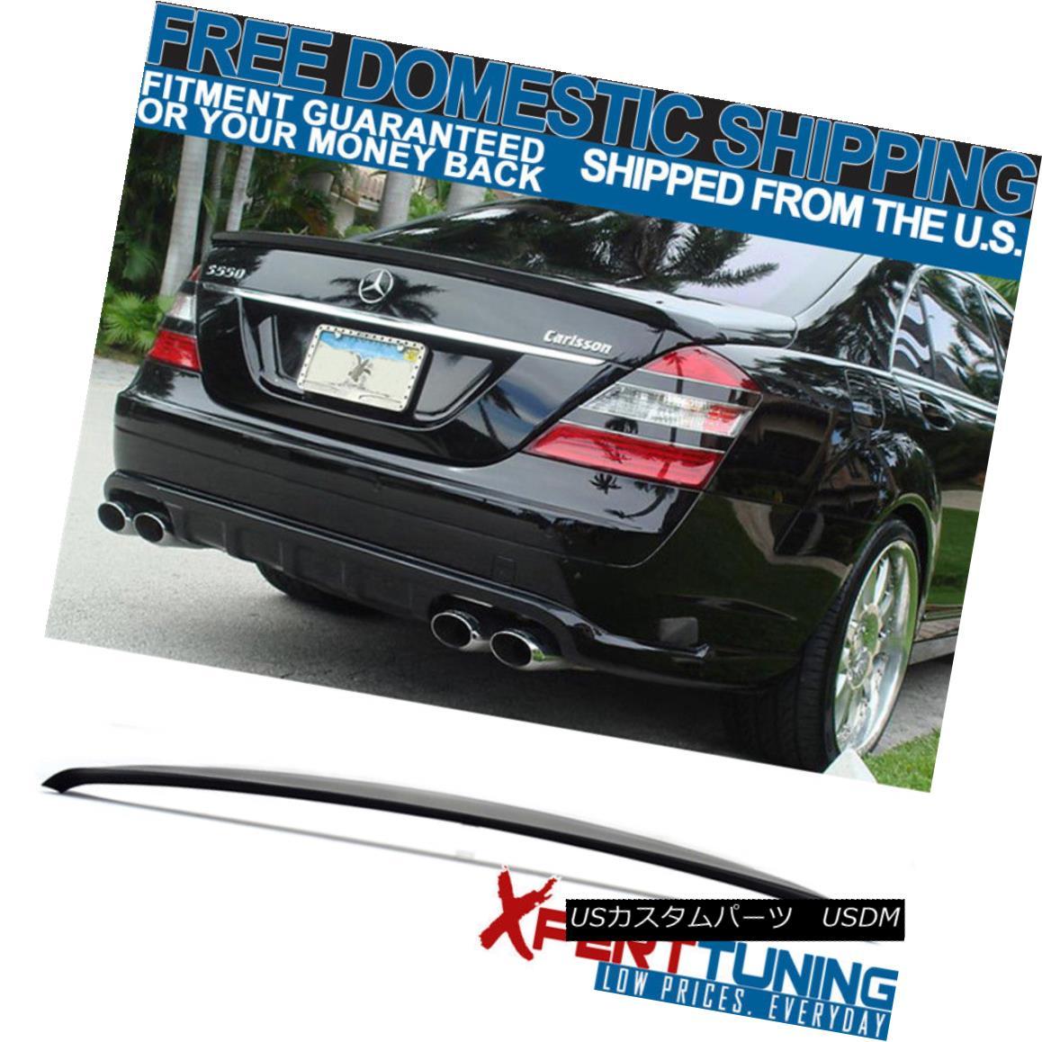 エアロパーツ Fit For 2007-2013 Benz S-Class W221 4Dr Sedan AMG Unpainted ABS Trunk Spoiler 2007-2013ベンツSクラスW221 4DrセダンAMG未塗装ABSトランク・スポイラー