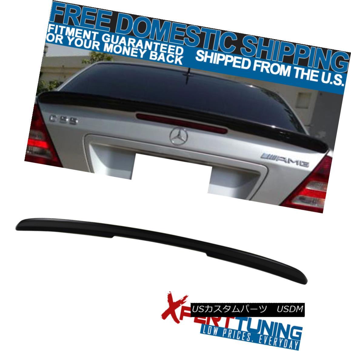 エアロパーツ Fit For 01-07 Benz C-Class W203 4Dr Sedan AMG Style Unpainted ABS Trunk Spoiler フィット01-07ベンツCクラスW203 4DrセダンAMGスタイル無塗装ABSトランクスポイラー
