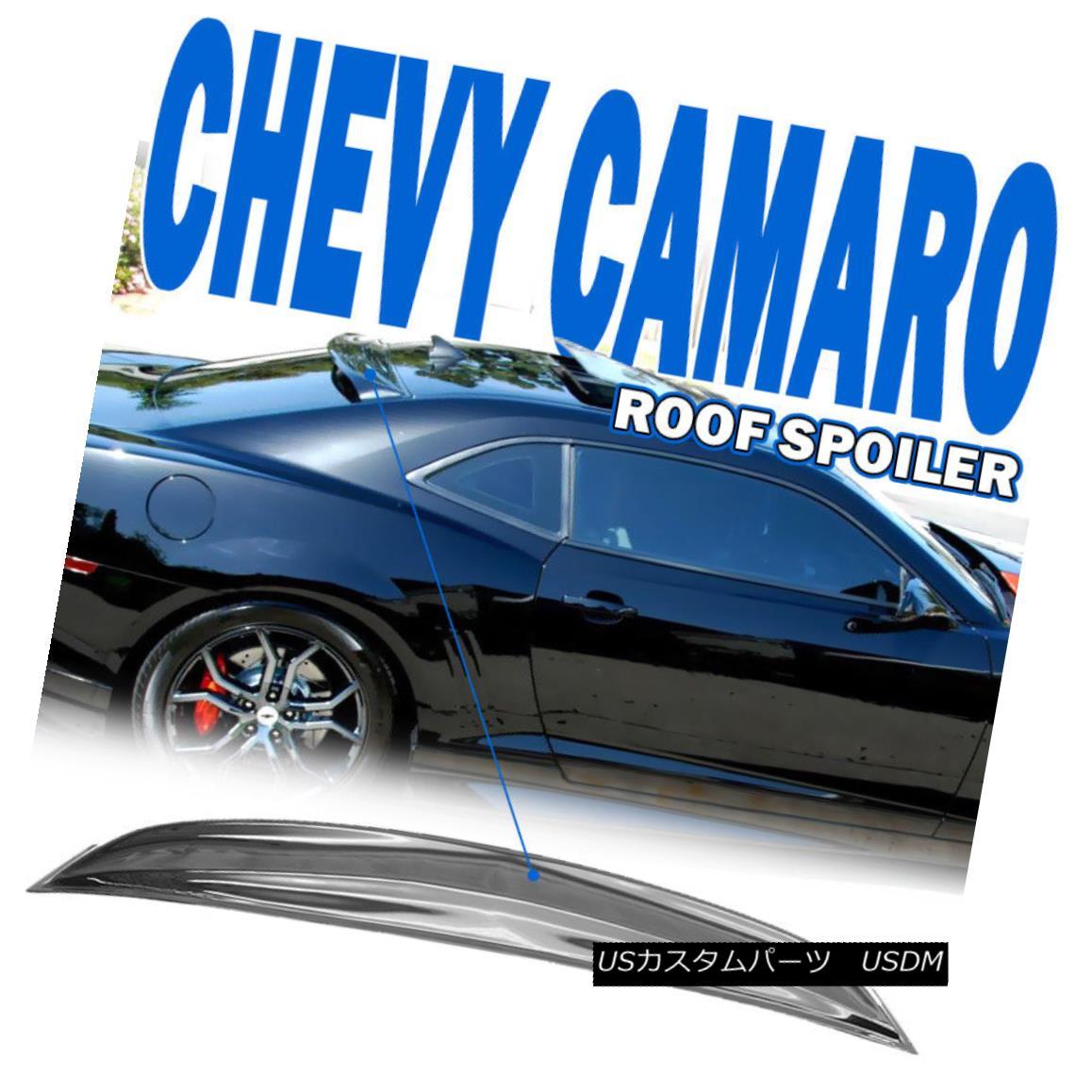 エアロパーツ For 10-16 Chevrolet Camaro Rear Roof Window Visor Spoiler Shade Deflector Vent 10-16シボレーカマロ用リアルーフウィンドウバイザースポイラーシェードデフレクターベント