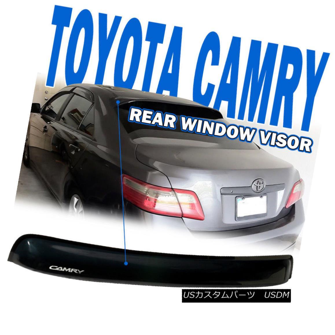 エアロパーツ Fit 07-11 Toyota Camry XV40 Sedan OE Rear Roof Window Visor Spoiler Wing Acrylic フィット07-11トヨタカムリXV40セダンOEリアルーフウィンドウバイザースポイラーウイングアクリル