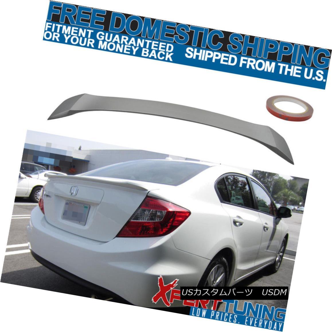 エアロパーツ 12 13 14 15 Honda Civic 9th Gen 4Dr OE Style Unpainted ABS Trunk Spoiler 12 13 14 15ホンダシビック第9世代4Dr OEスタイル無塗装ABSトランク・スポイラー