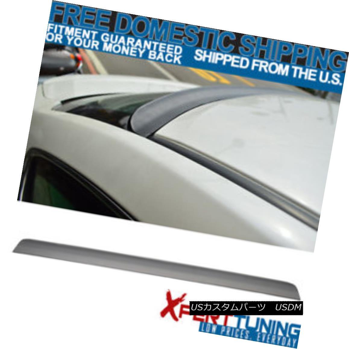エアロパーツ 13 14 15 Honda Accord 4Dr 9TH Unpainted Rear Roof Spoiler Lip PUF 13 14 15ホンダアコード4Dr 9TH未塗装リアルーフスポイラーリップPUF