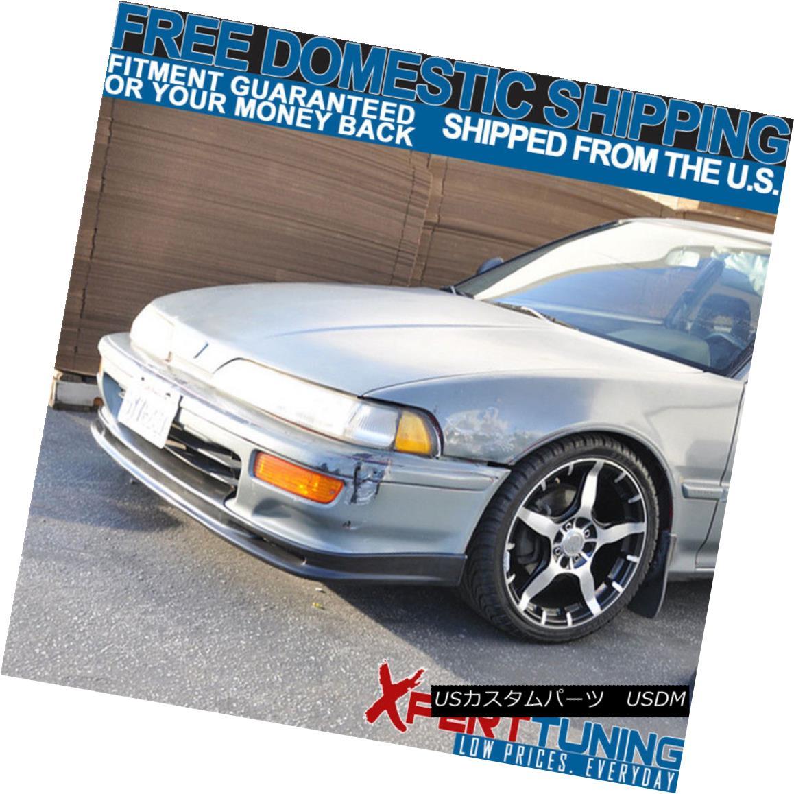 92-93 Acura Integra MUG Style Urethane Add-On Front Bumper Lip Spoiler Bodykit