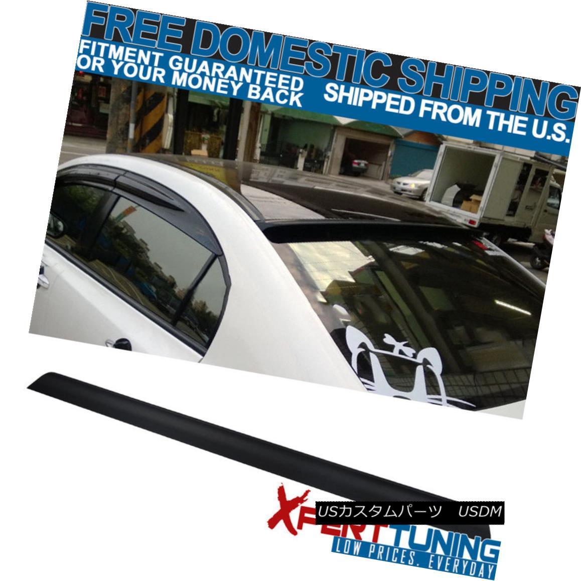 2018新発 エアロパーツ Fit For 06-10 Ford Fusion 4Dr Unpainted PU Flexible Rear Roof Spoiler 6~10フォードフュージョン4Dr未塗装PUフレキシブルリアルーフスポイラー, ジャンプラボ 592b86c7