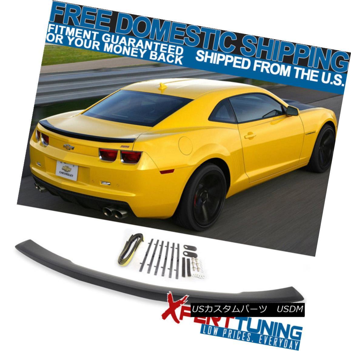 エアロパーツ Fits 10-13 Chevy Camaro Flush Mount OE Factory Style Trunk Spoiler Wing フィット10-13シボレーカマロフラッシュマウントOE工場スタイルのトランクスポイラーウィング