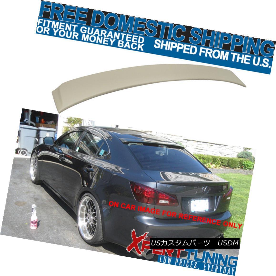 【即納&大特価】 エアロパーツ Fit 06-13 Lexus IS250 IS350 OE Factory Style JDM ABS Unpainted Roof Spoiler Wing フィット06-13レクサスIS250 IS350 OE工場スタイルJDM ABS無塗装ルーフスポイラーウイング, メロディーデザイン 09b938c2