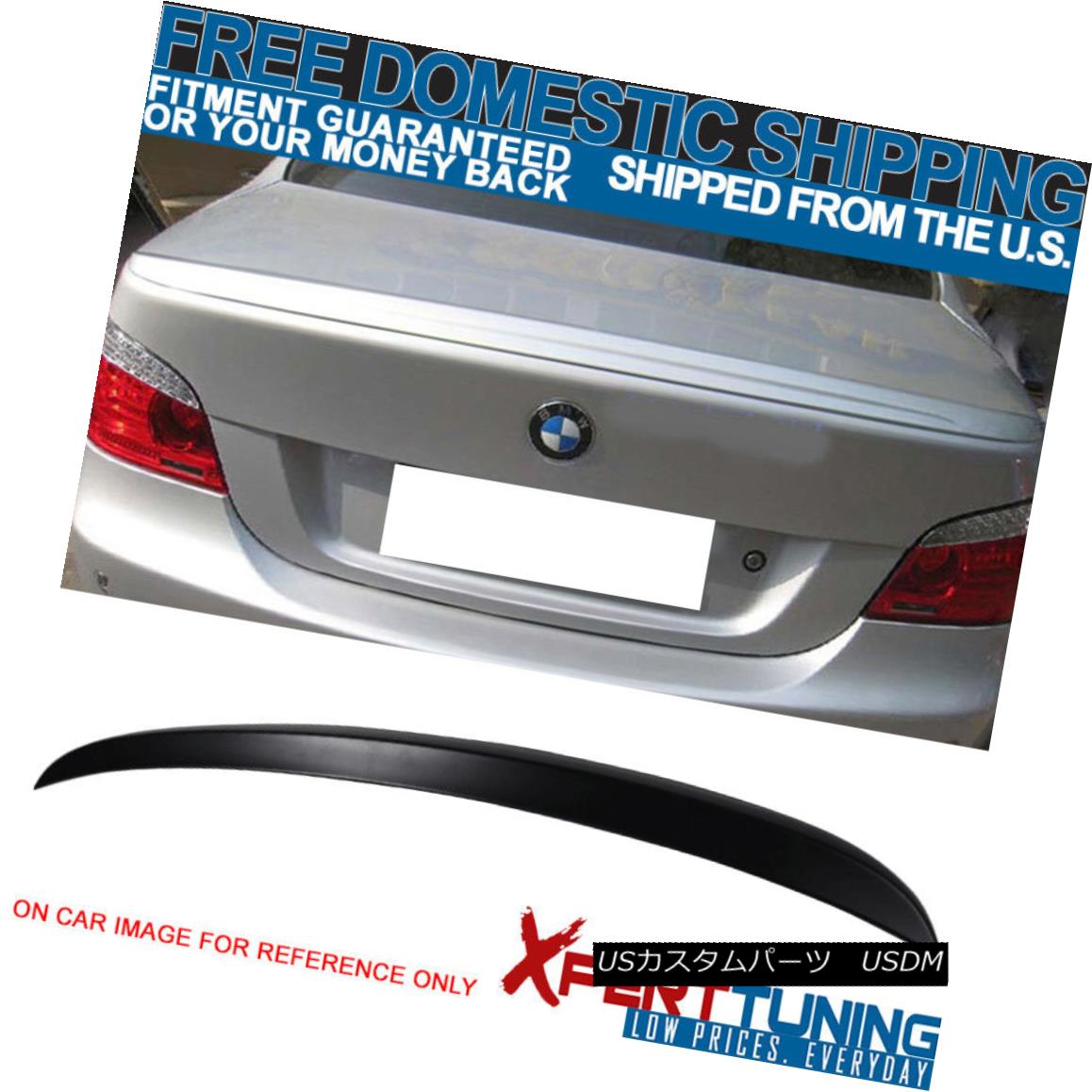 エアロパーツ 04-10 BMW 5 Series E60 4Dr M5 Style Unpainted ABS Trunk Spoiler 04-10 BMW 5シリーズE60 4Dr M5スタイル無塗装ABSトランク・スポイラー