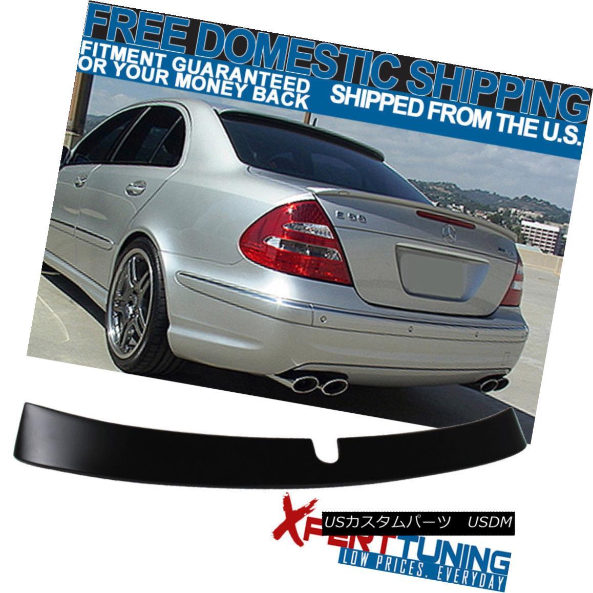 エアロパーツ Fit For 03-05 Benz E-Class W211 4Dr L Unpainted ABS Rear Window Visor Spoiler フィット03-05ベンツEクラスW211 4Dr L未塗装ABSリアウィンドウバイザースポイラー