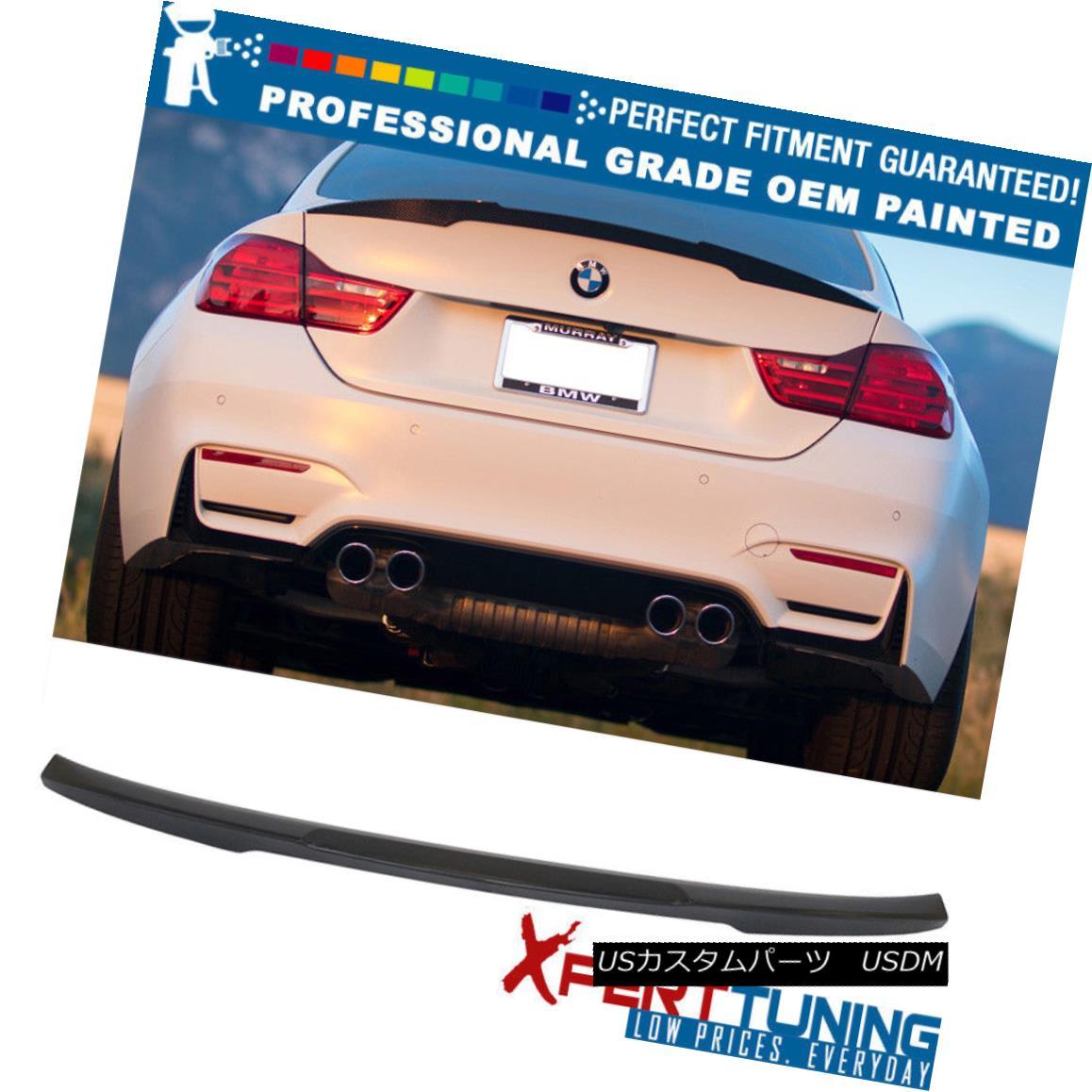 エアロパーツ 15-17 F82 4-Series M4 Performance Painted Trunk Spoiler - OEM Painted Color 15-17 F82 4シリーズM4パフォーマンス塗装トランク・スポイラー - OEM塗装色