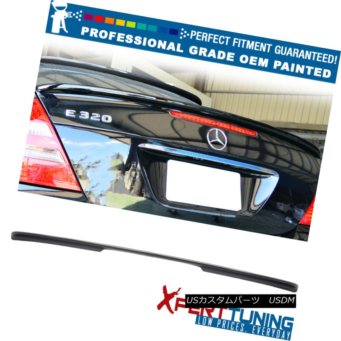 エアロパーツ 03-09 E-Class W211 4Dr AMG Style Painted ABS Trunk Spoiler - OEM Painted Color 03-09 EクラスW211 4Dr AMGスタイル塗装ABSトランク・スポイラー - OEM塗装カラー