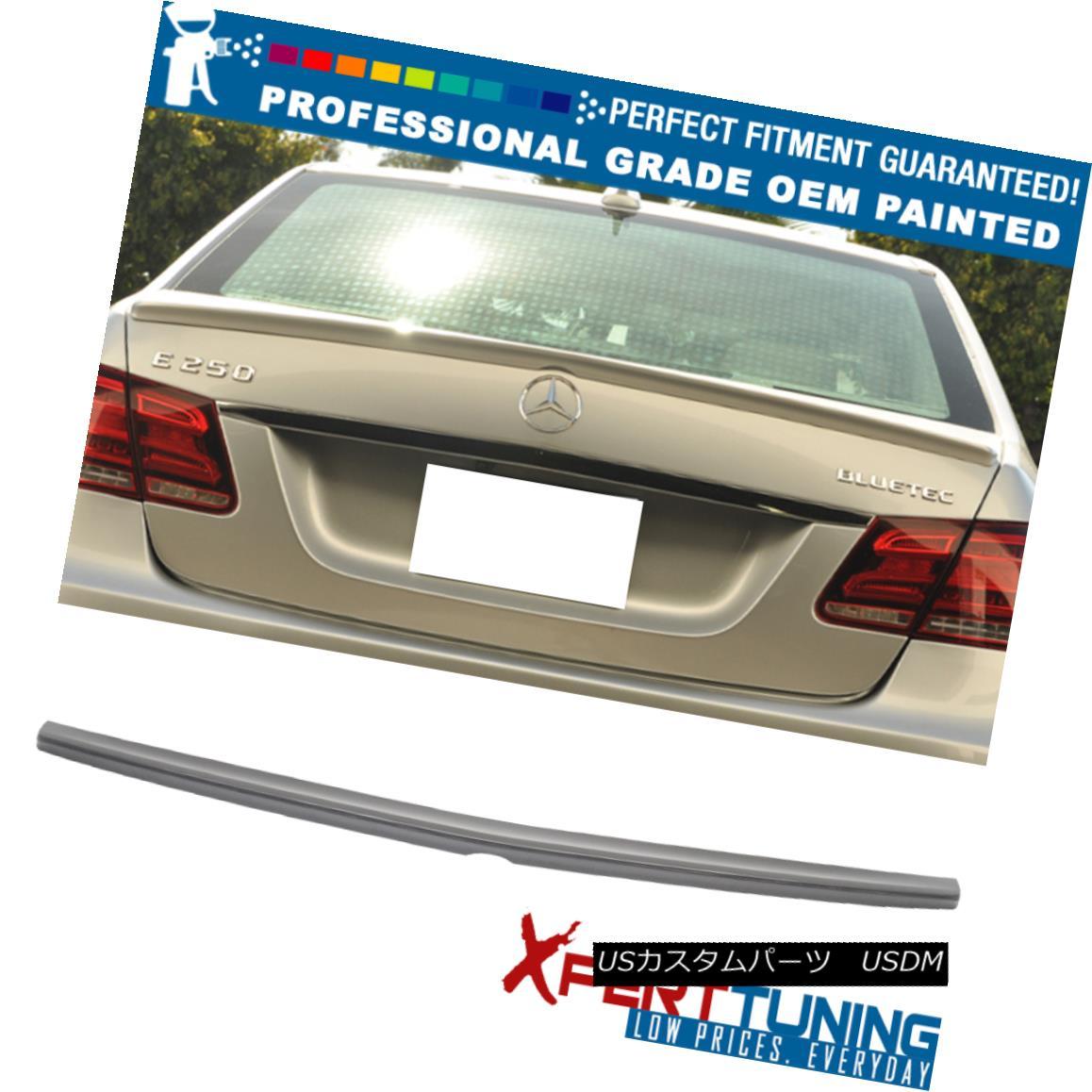 エアロパーツ 10-16 E-Class W212 4Dr Painted AMG Style Trunk Spoiler - OEM Painted Color 10-16 EクラスW212 4Dr塗装AMGスタイルトランク・スポイラー - OEM塗装カラー