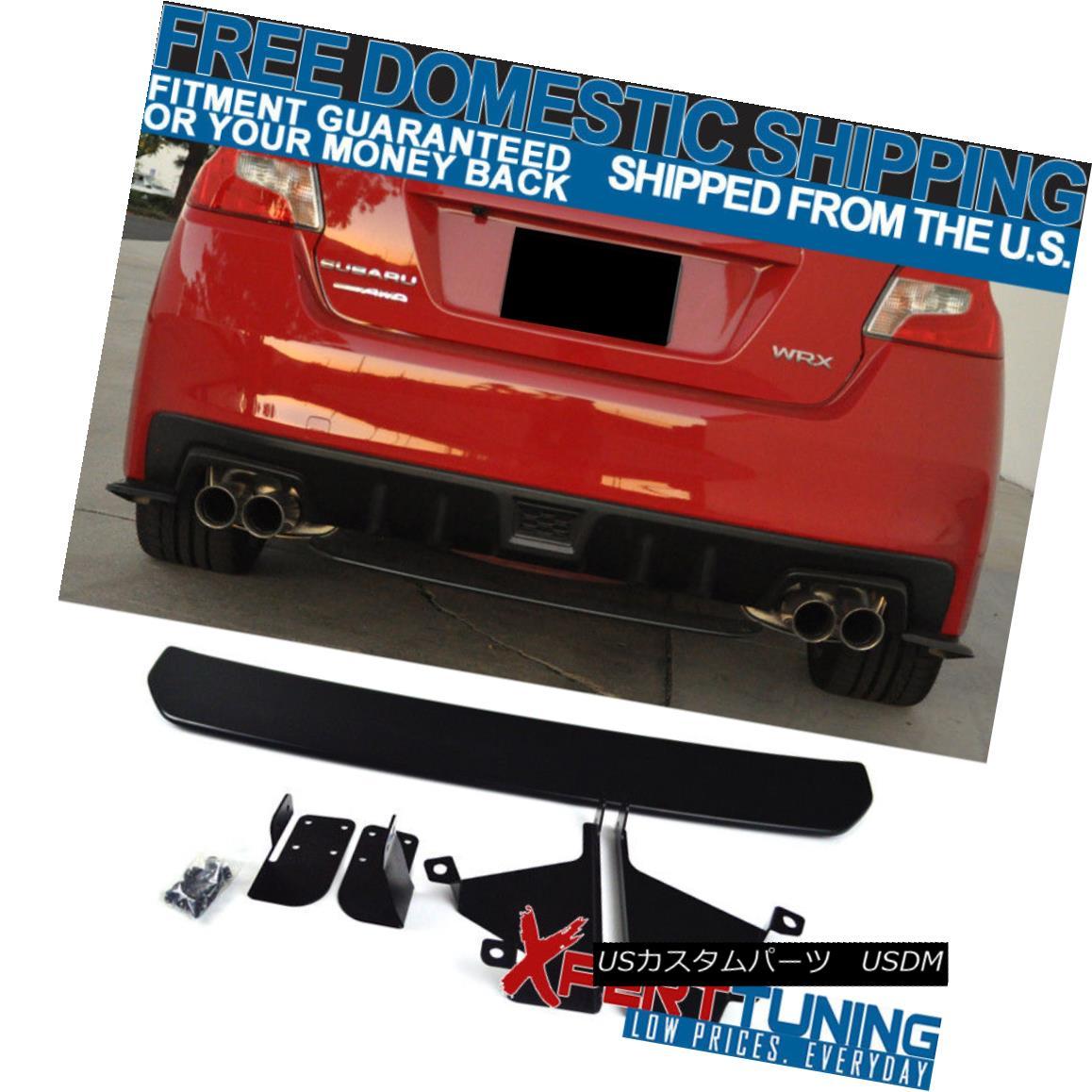 エアロパーツ Fit For 15-18 Subaru WRX 4Dr OE STI Style Unpainted Black Rear Diffuser Lip ABS 15-18スバルWRX 4Dr OE STIスタイル未塗装ブラックリアディフューザリップABS
