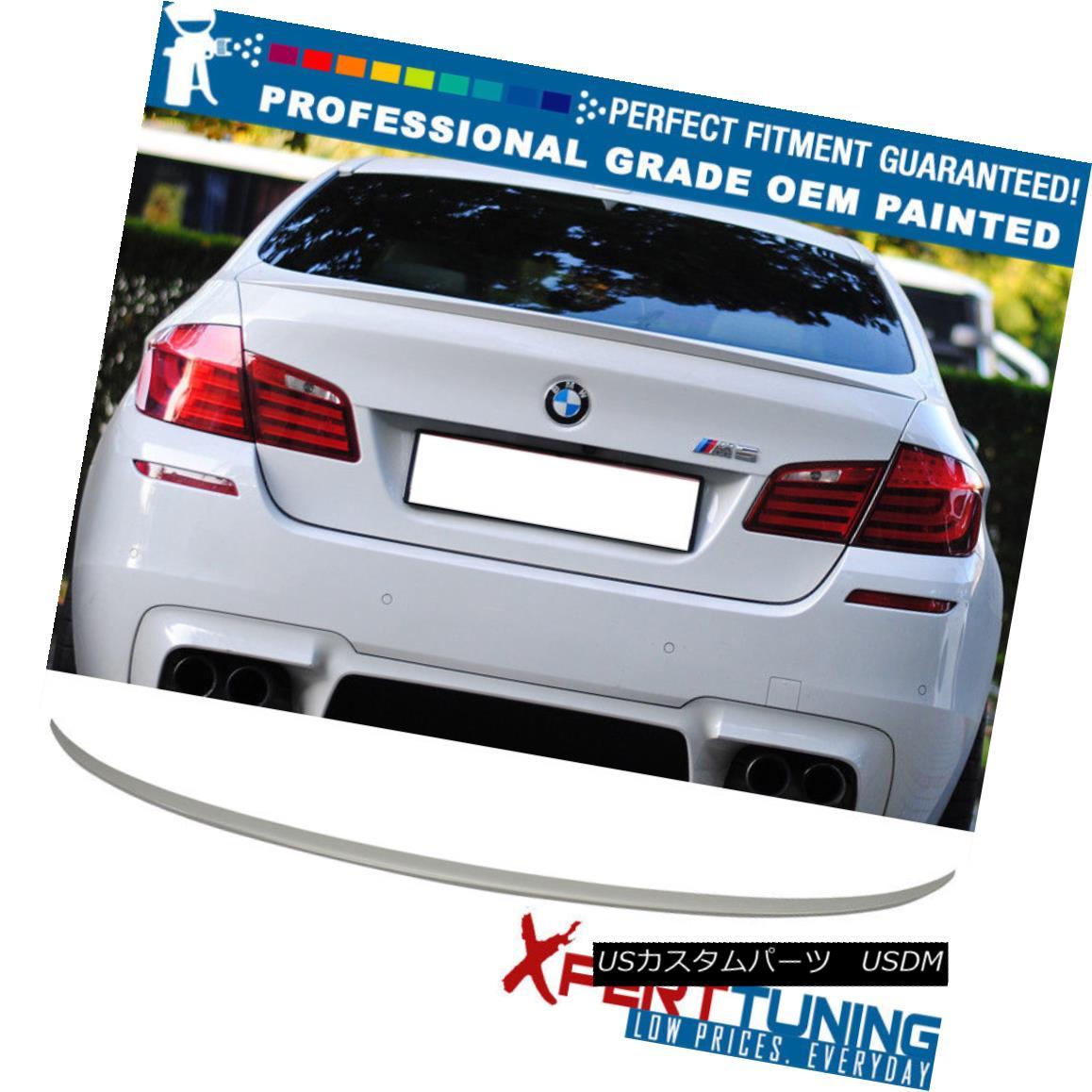 エアロパーツ 11-16 BMW 5-Series F10 4Dr M5 Painted ABS Trunk Spoiler - OEM Painted Color 11-16 BMW 5シリーズF10 4Dr M5塗装ABSトランク・スポイラー - OEM塗装色