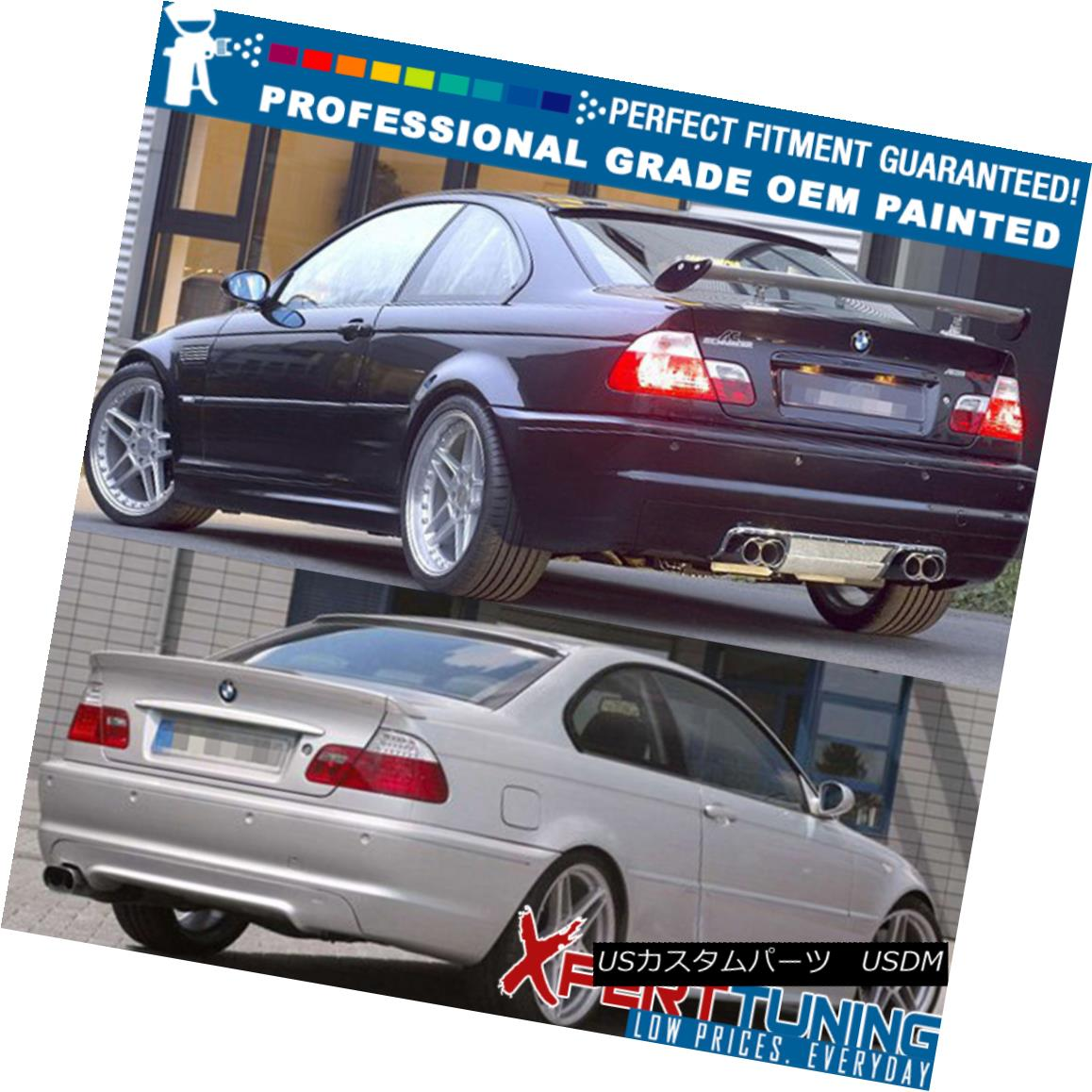 USA Stock 99-05 BMW 3 Series E46 M3 2Dr AC Style Unpainted ABS Roof Spoiler