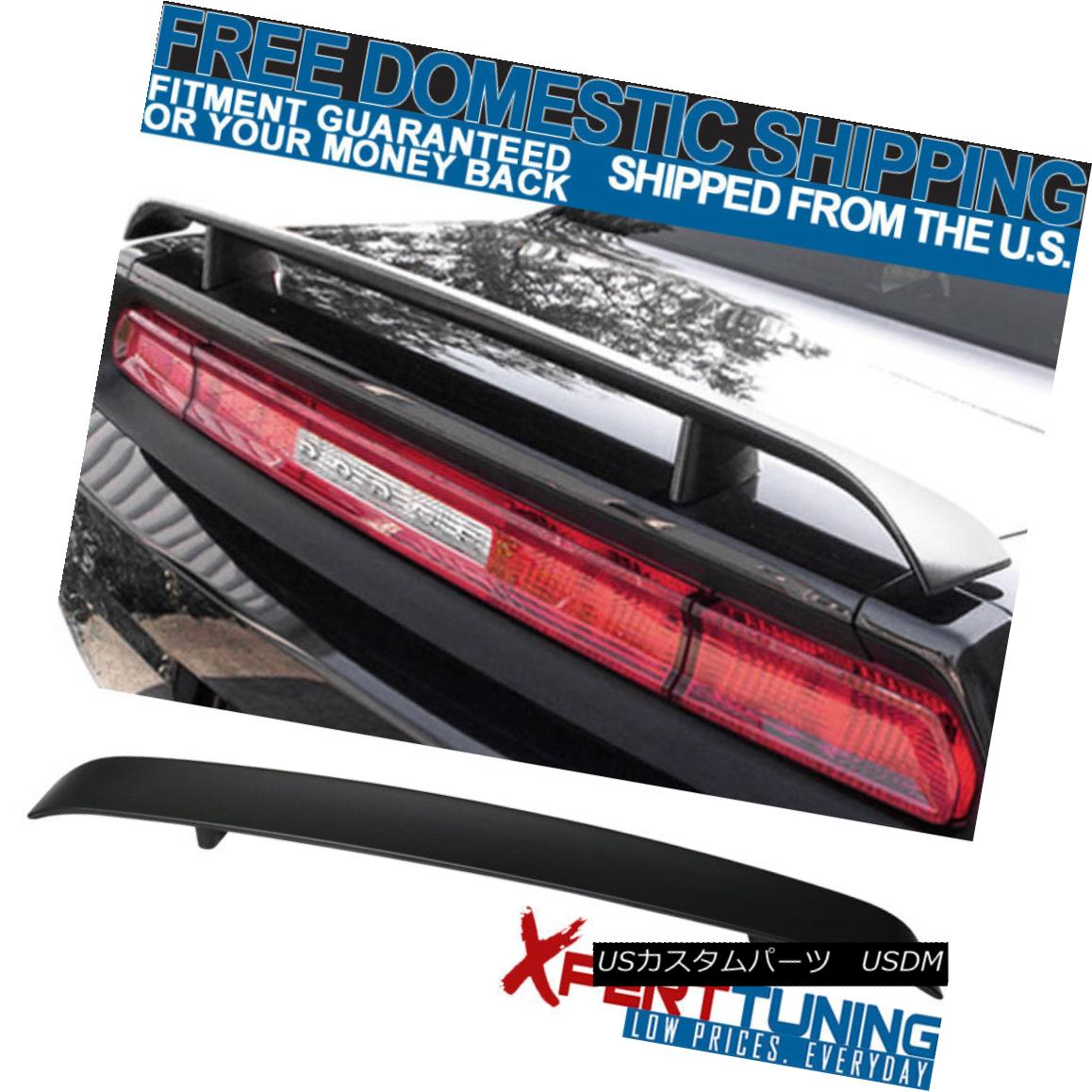 エアロパーツ 2008-2014 Dodge Challenger ABS Rear Trunk Lip Spoiler Wing OE Style Lid 2008-2014ダッジチャレンジャーABSリアトランクリップスポイラーウイングOEスタイルリッド