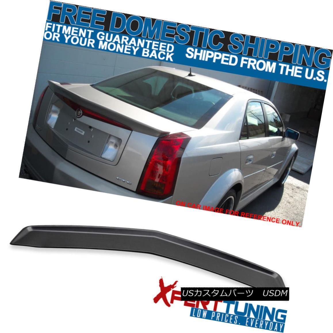 エアロパーツ Cadillac CTS 4Door 03-07 Flush Mount OE Rear Trunk Spoiler Wing Unpainted ABS キャデラックCTS 4ドア03-07フラッシュマウントOEリアトランクスポイラーウイング無塗装ABS