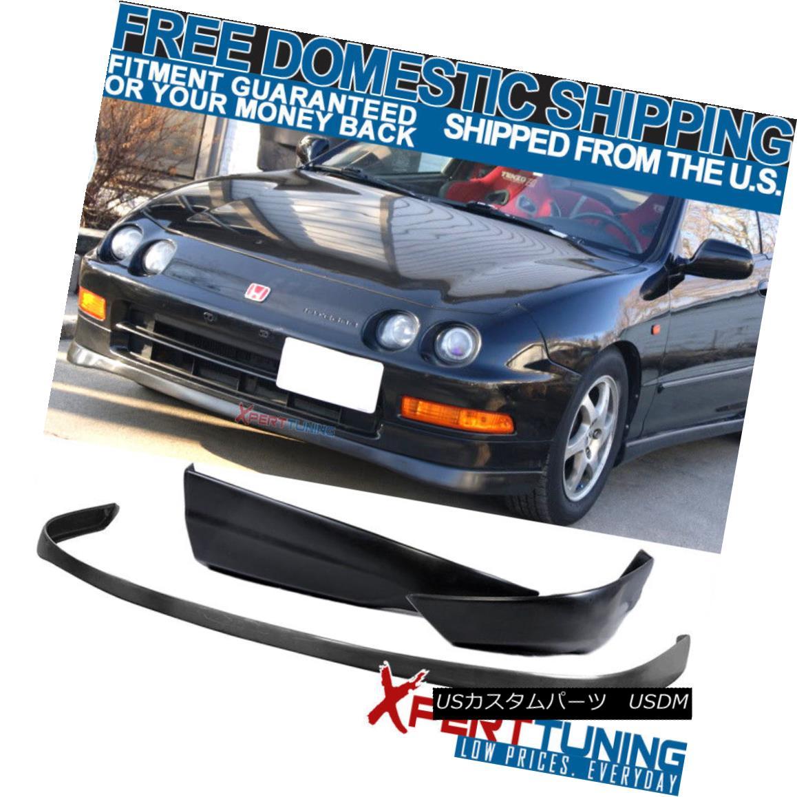 エアロパーツ Fits:94-97 Acura Integra SIR VTEC Urethane Front Bumper Lip + T-R ABS Rear Lip フィット:94-97 Acura Integra SIR VTECウレタンフロントバンパーリップ+ T-R ABSリアリップ