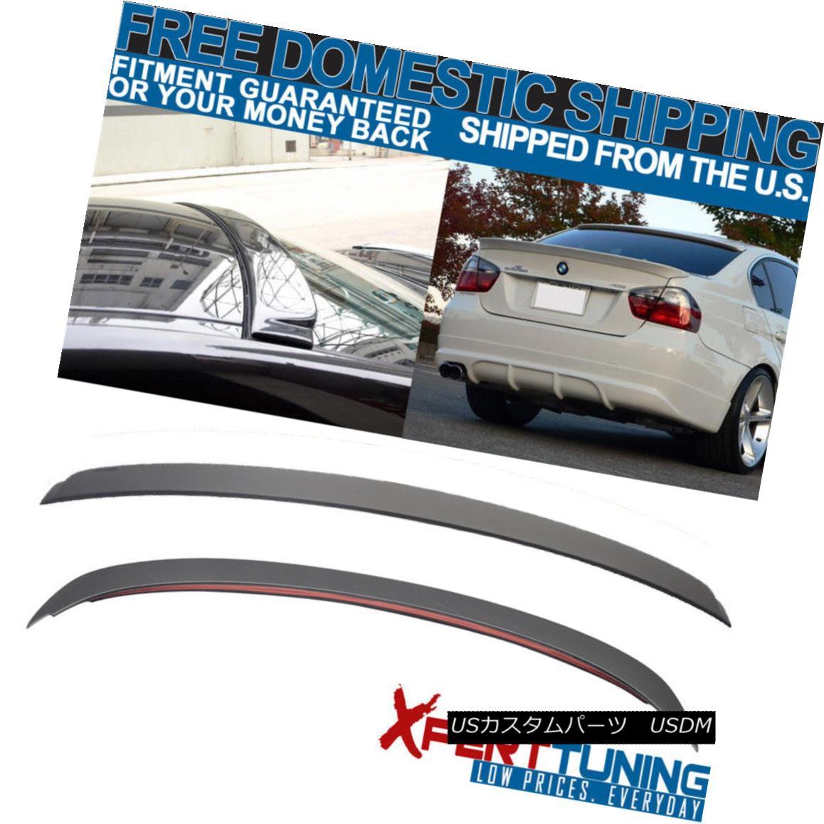 エアロパーツ 06-11 BMW E90 3 Series 4Door Sedan AC Trunk + Roof Spoiler Unpainted ABS Plastic 06-11 BMW E90 3シリーズ4DoorセダンACトランク+ルーフスポイラー無塗装ABS樹脂