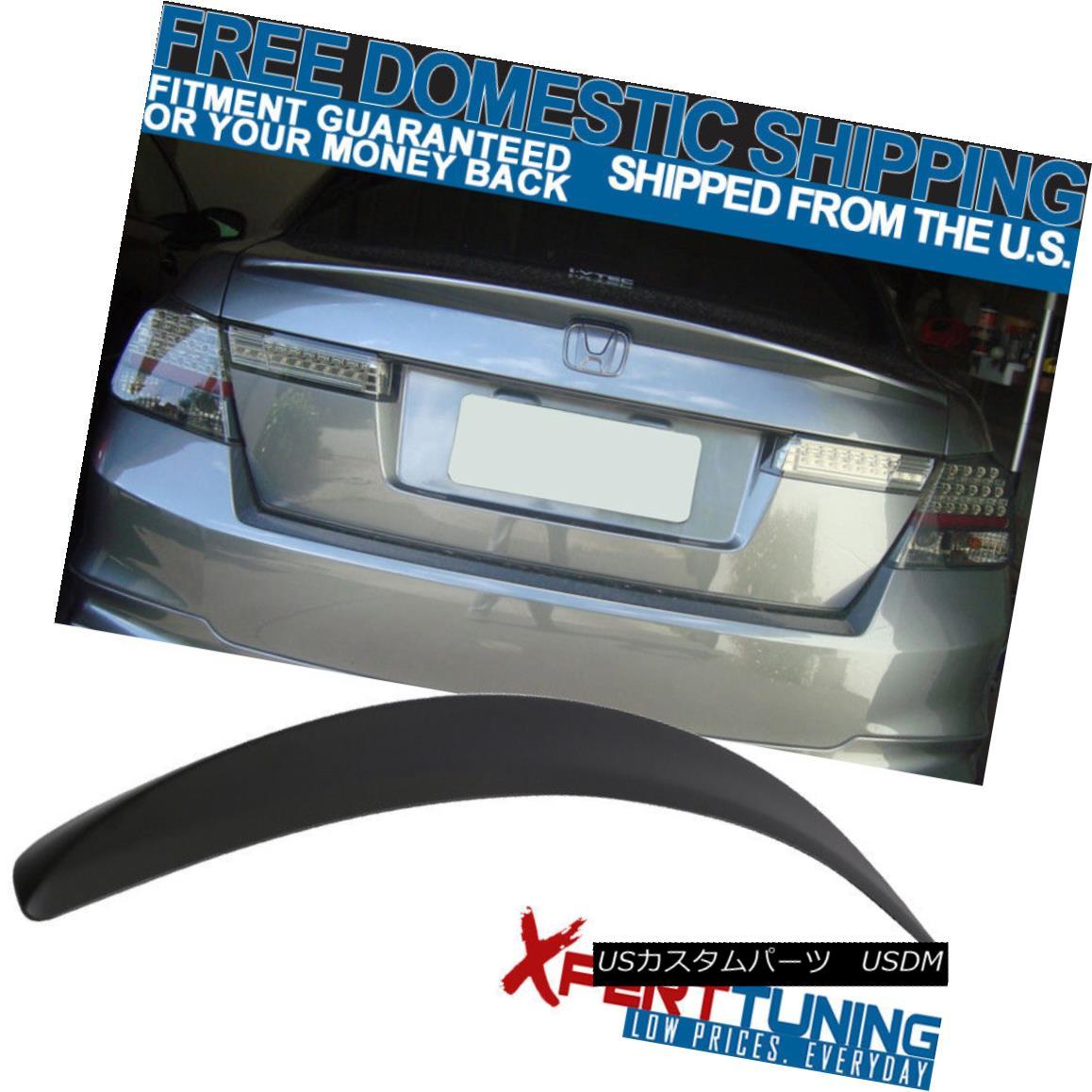 エアロパーツ Fit For 2008-2012 Honda Accord Sedan 4Dr JDM Style Unpainted ABS Trunk Spoiler ホンダアコードセダン4Dr JDMスタイル無塗装ABSトランク・スポイラー
