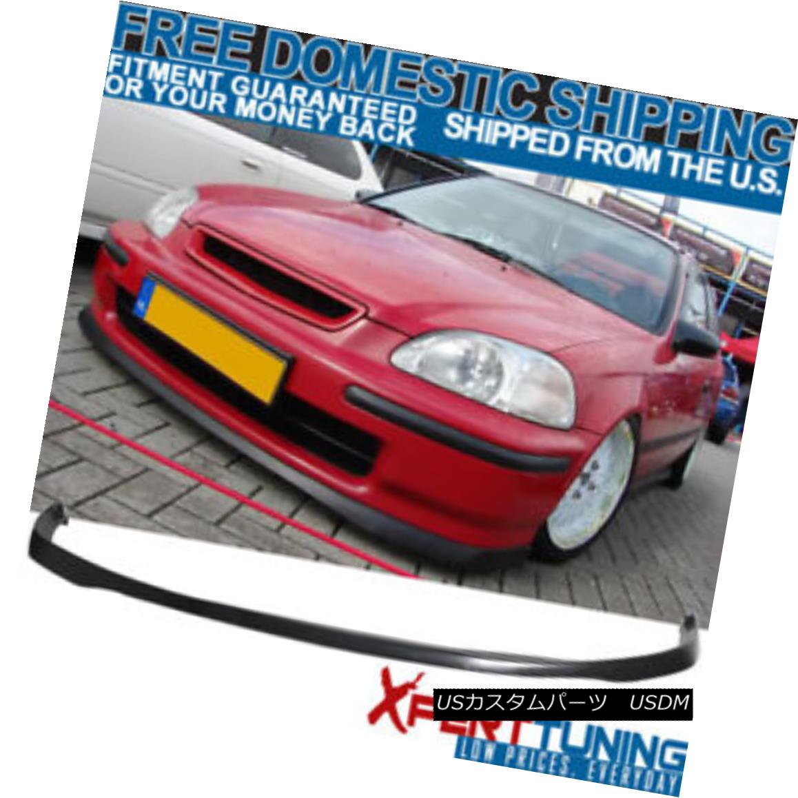 【国内正規品】 エアロパーツ Fits 99-00 Honda Civic JDM Type Sir Front Bumper Lip Spoiler Poly-Urethane フィット99-00ホンダシビックJDMタイプサーフロントバンパーリップスポイラーポリウレタン, 文林堂四宣斎 96360e5d