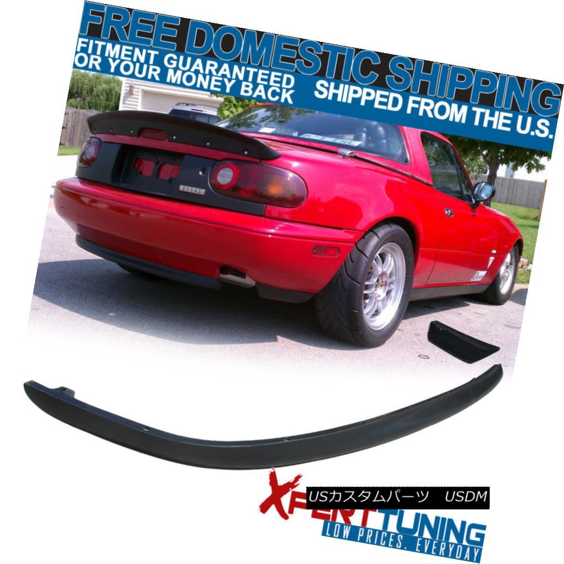 エアロパーツ Fits 90-97 Mazda Miata JDM MX5 Urethane Rear Bumper Diffuser Lip Spoiler Kit フィット90-97マツダMiata JDM MX5ウレタンリヤバンパーディフューザーリップスポイラーキット