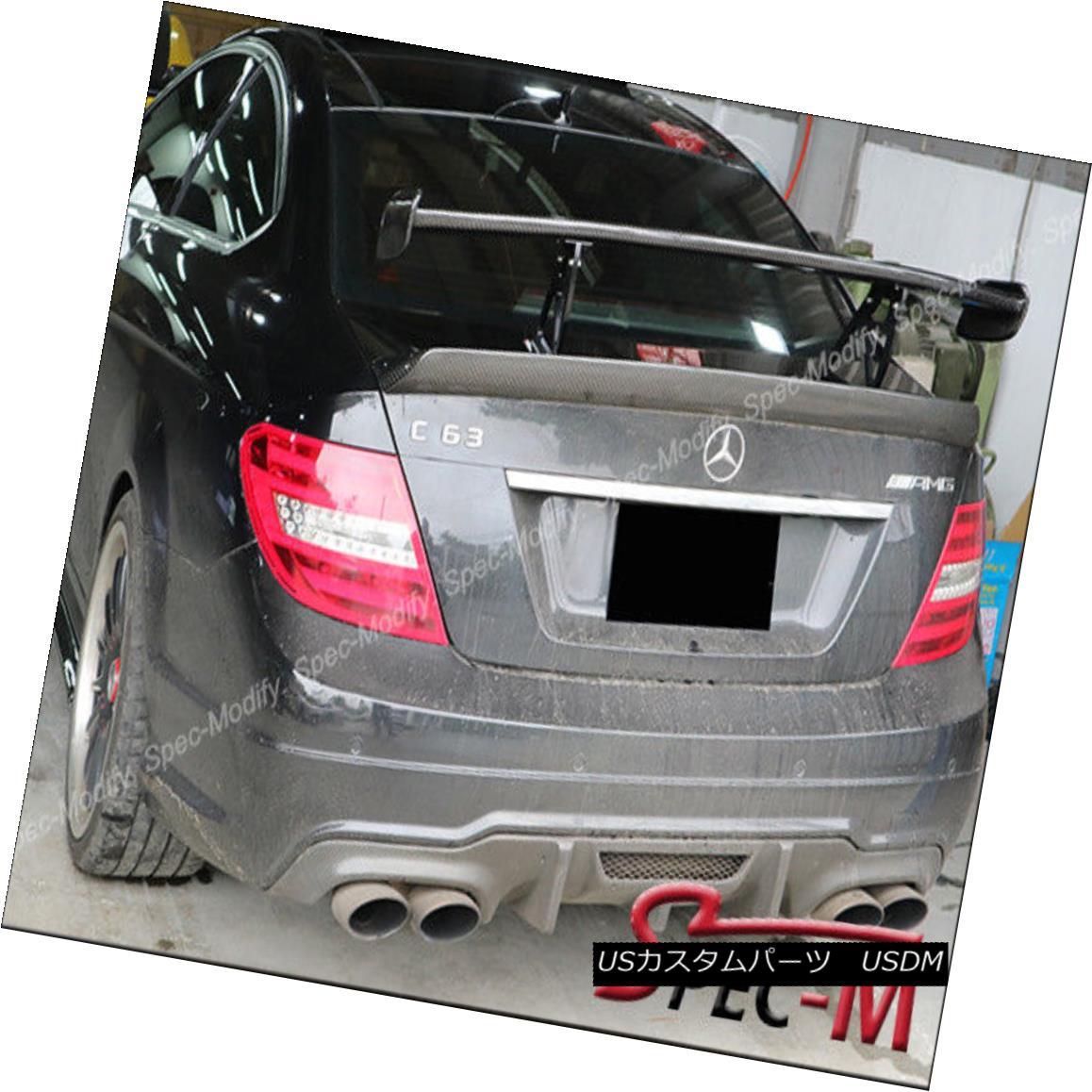 エアロパーツ 2012-2015 C204 C63 AMG COUPE Black Series Style Carbon Fiber Trunk Spoiler Wing 2012-2015 C204 C63 AMG COUPEブラックシリーズスタイルカーボンファイバートランク・スポイラー・ウィング