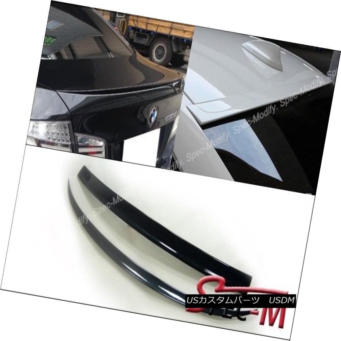 エアロパーツ Painted M5 Trunk Lip + 3D Roof Spoiler For BMW 2011+ F10 528i 535i 550i Sedan ペイントされたM5トランクリップ+ 3DルーフスポイラーBMW 2011+ F10 528i 535i 550iセダン