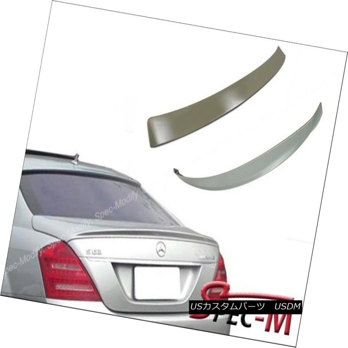 エアロパーツ AMG Trunk Spoiler Roof Lip Fit W221 S400 S430 S500 S550 S63 07-13 Iridium Silver AMGトランク・スポイラールーフ・リップ・フィットW221 S400 S430 S500 S550 S63 07-13イリジウム・シルバー