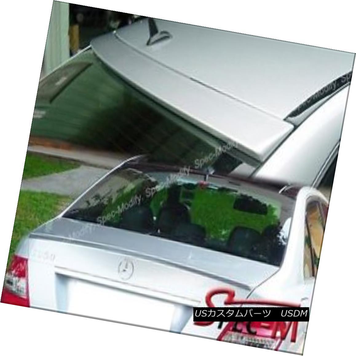 エアロパーツ Painted #775 Silver AMG Trunk Spoiler + OE Roof Lip For W204 C-Class Sedan 08-14 塗装済み#775シルバーAMGトランク・スポイラー+ OEルーフ・リップW204 Cクラスセダン08-14