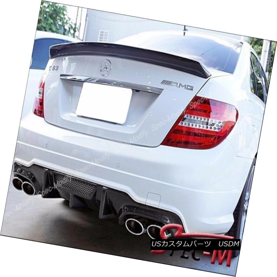 エアロパーツ Carbon Fiber Rear Bumper Diffuser V Type For 2012+ C63AMG W204 C204 Facelift カーボンファイバーリアバンパーディフューザー2012年型用C63AMG W204 C204フェイスリフト