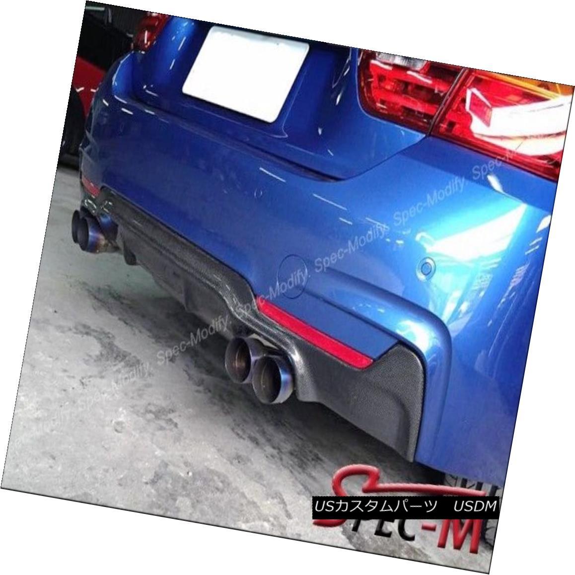 エアロパーツ 3D Type Carbon Fiber Diffuser Lip Fits F32 F33 420i 428i 435i w/ M Sport Bumper 3DタイプカーボンファイバーディフューザーリップフィットF32 F33 420i 428i 435i w / Mスポーツバンパー