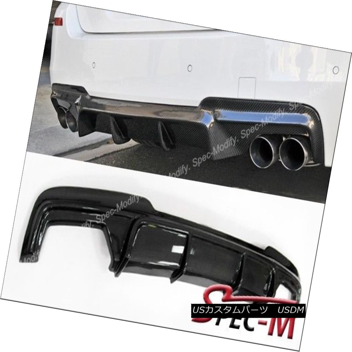 エアロパーツ V Type Carbon Fiber Rear Bumper Diffuser Lip For 2011+ F10 535i M Sports Bumper Vタイプカーボンファイバーリアバンパーディフューザーリップ2011 + F10 535i Mスポーツバンパー
