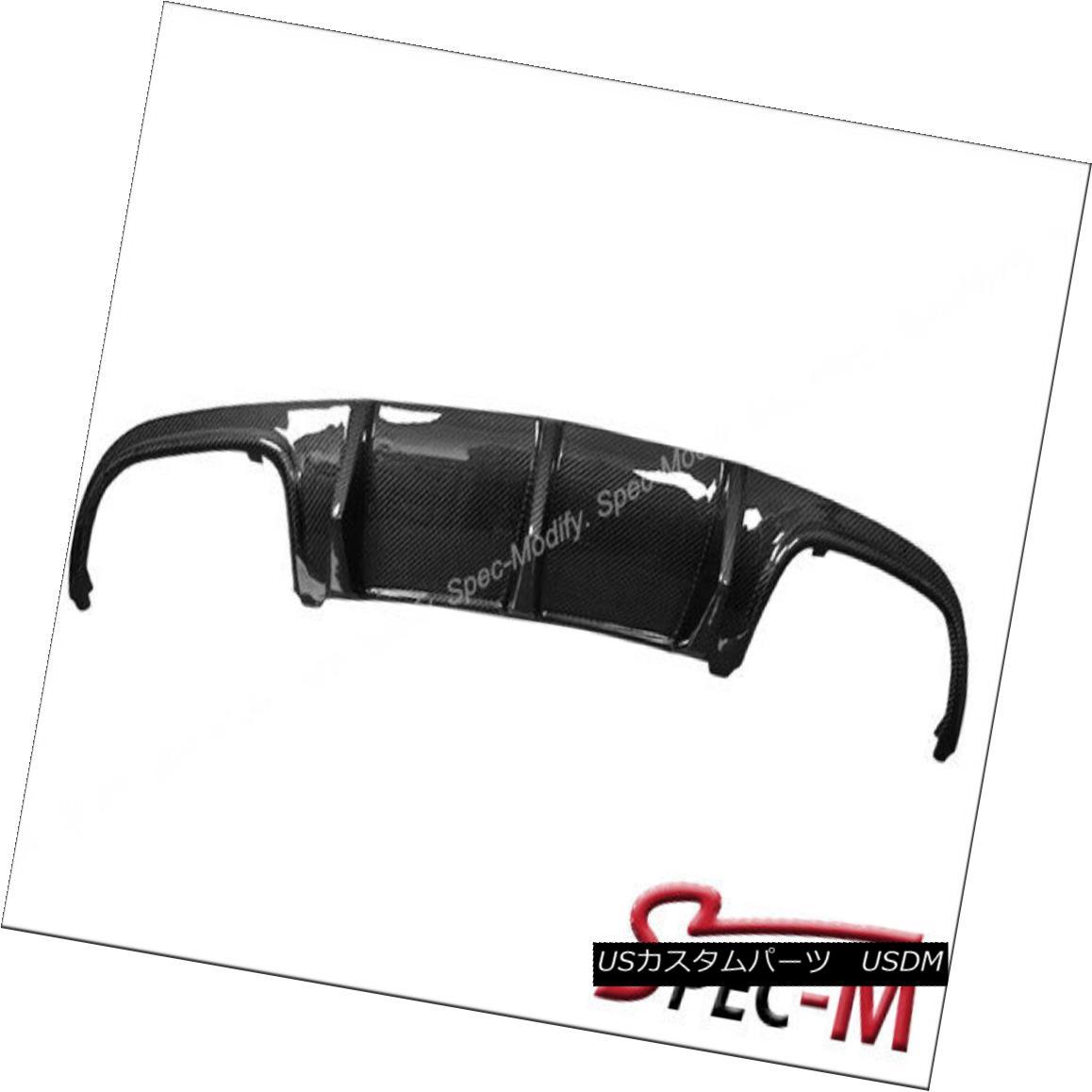 エアロパーツ Carbon Fiber Rear Bumper Diffuser Big Fins For 08-11 C63AMG W204 Pre Facelift カーボンファイバーリアバンパーディフューザービッグフィンfor 08-11 C63AMG W204 Pre Facelift